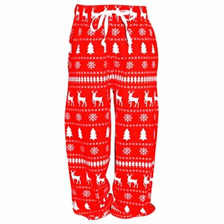 UB Boys Winter Print Matching Family Holiday Pajama Pants (2t)
