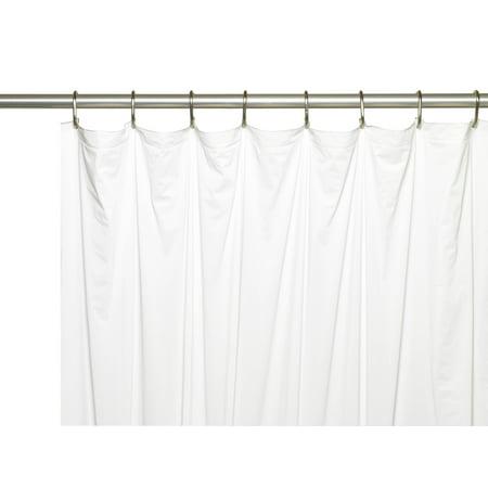 Royal Bath Stall Sized Extra Heavy 8 Gauge Vinyl Shower Curtain Liner (54
