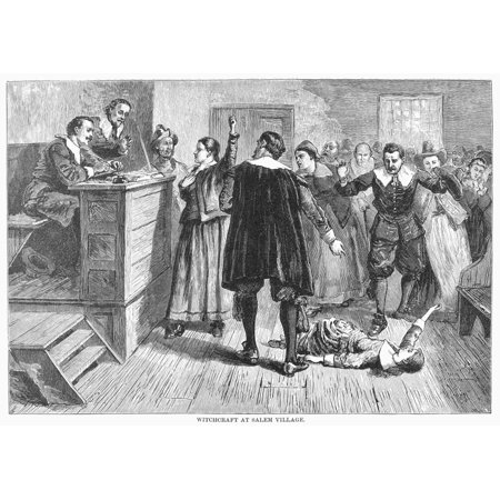 salem witch trials 1692 nthe trial of a witch at salem massachusetts