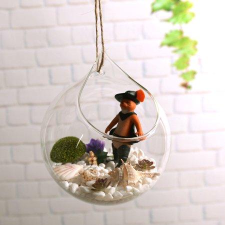 Brand New Wall hanging Vase for hydroponics Plants goldfish bowl vase Styled Decor - image 1 de 7