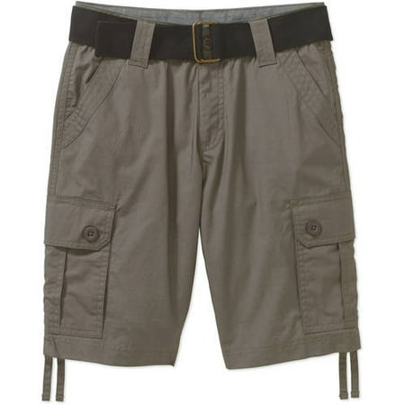 Belted Fashion Peached Poplin Cargo Shorts (Little Boys & Big Boys)