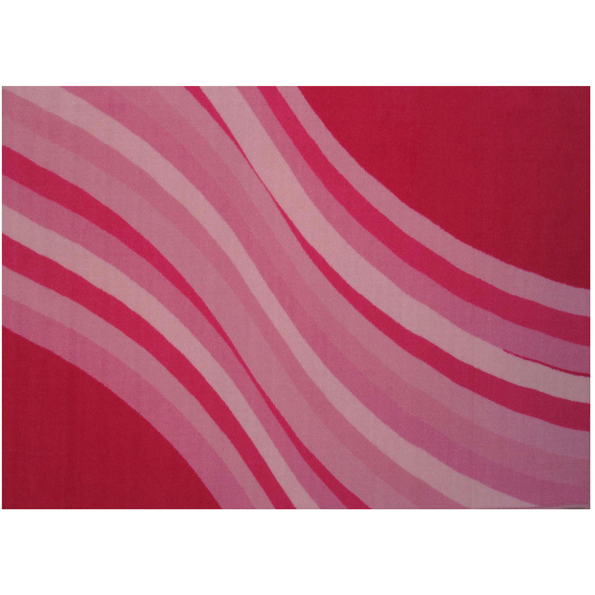 "Fun Rugs Wacky Pink Wave 19"" x 29"" Rug"
