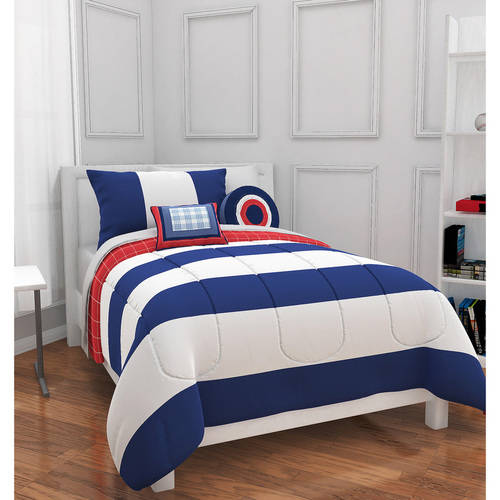piece king bedding blue striped white cover and comforter size duvet cabana luxury set