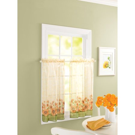 Better Homes And Gardens Sunflower 24 Tier Curtain