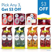 Pick Any 3 Febreze Holiday Scents, get $3 OFF