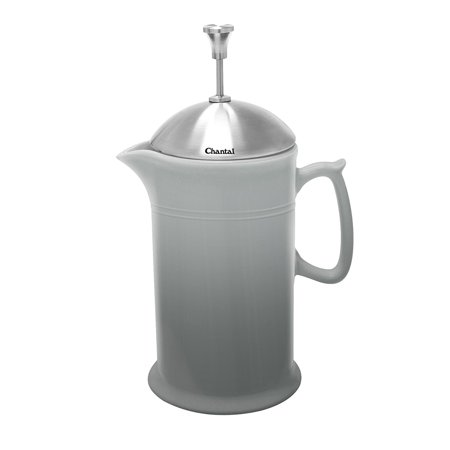 Chantal 92-FP28 FG Ceramic French Press with Stainless Steel Plunger/Lid, Fade (Chantal Ceramic)