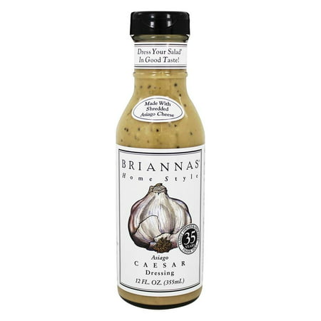 (2 Pack) Briannas Home Style Asiago Caesar Dressing, 12 Fl (Best Store Bought Caesar Dressing)