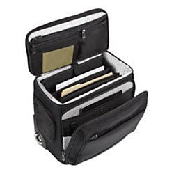 Compact Rolling Laptop Case (Ativa™ Ultimate Compact Workmate Rolling Briefcase With 17