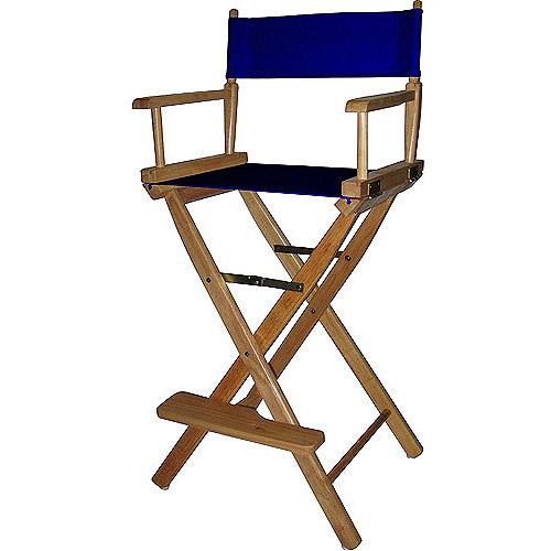 30 Directors Chair Natural FrameNavy Blue Canvas Walmartcom