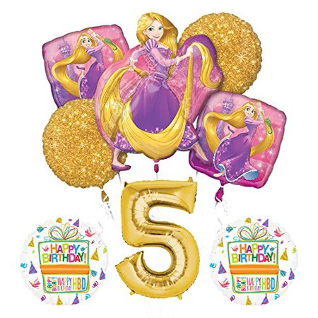 Disney Princess Birthday Party Decorations (NEW! Tangled Rapunzel Disney Princess 5th BIRTHDAY PARTY)