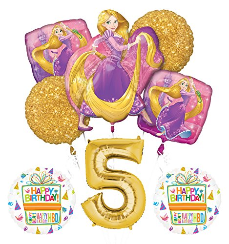 NEW! Tangled Rapunzel Disney Princess 5th BIRTHDAY PARTY Balloon