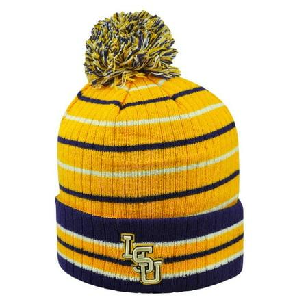 - Gnarly Striped LSU Tigers Louisiana State Knit Hat