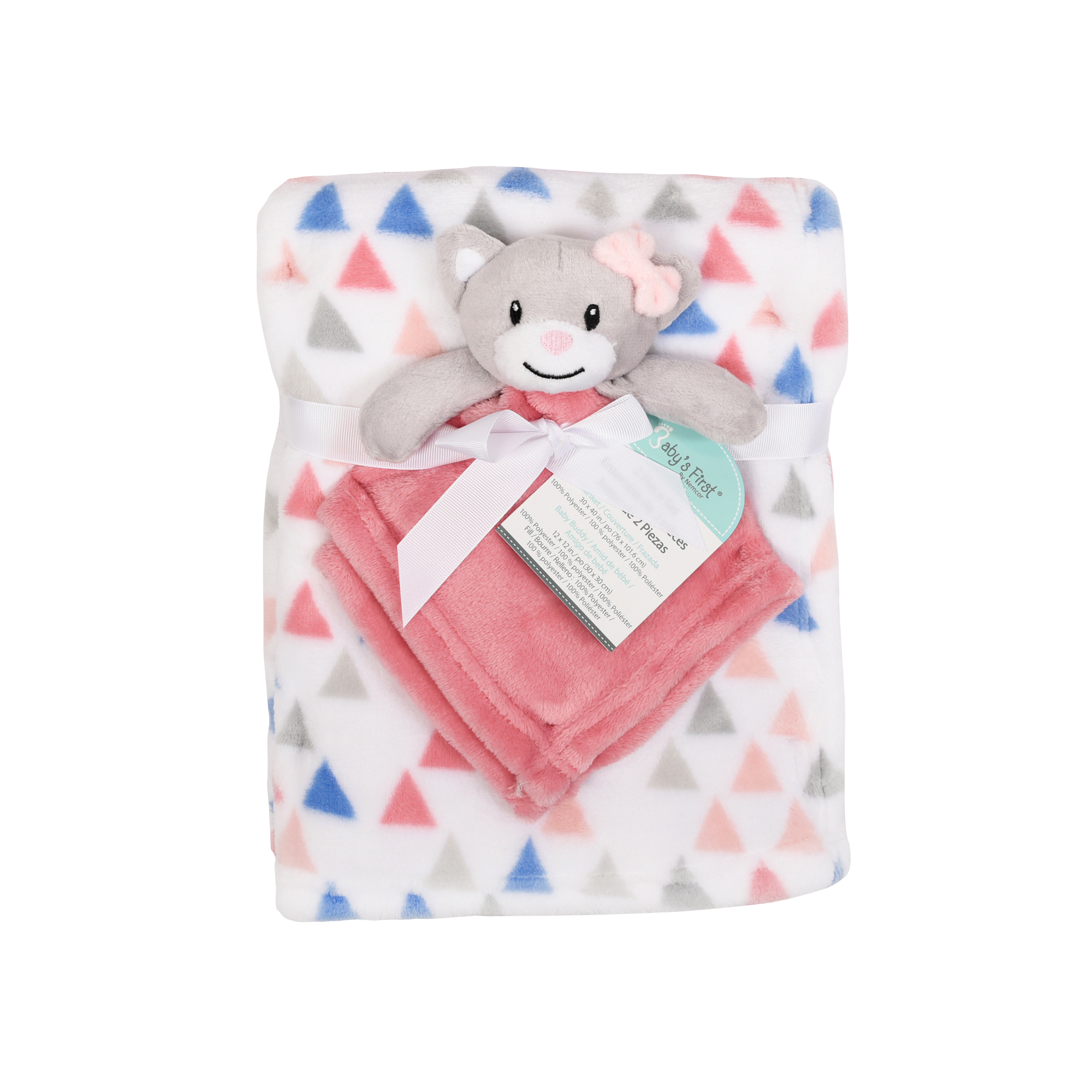 Baby S First By Nemcor 2 Piece Blanket And Buddy Gift Set Cat Walmart