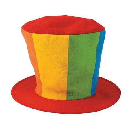In 15 424 Felt Oversized Clown Top Hat Oversized Rainbow