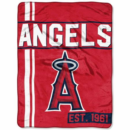 """Los Angeles Blanket - MLB Los Angeles Angels """"Walk Off"""" 46""""x 60"""" Micro Raschel Throw"""