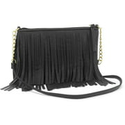 Women's Boho Festival Inspired Fringe Cross Body Handbag