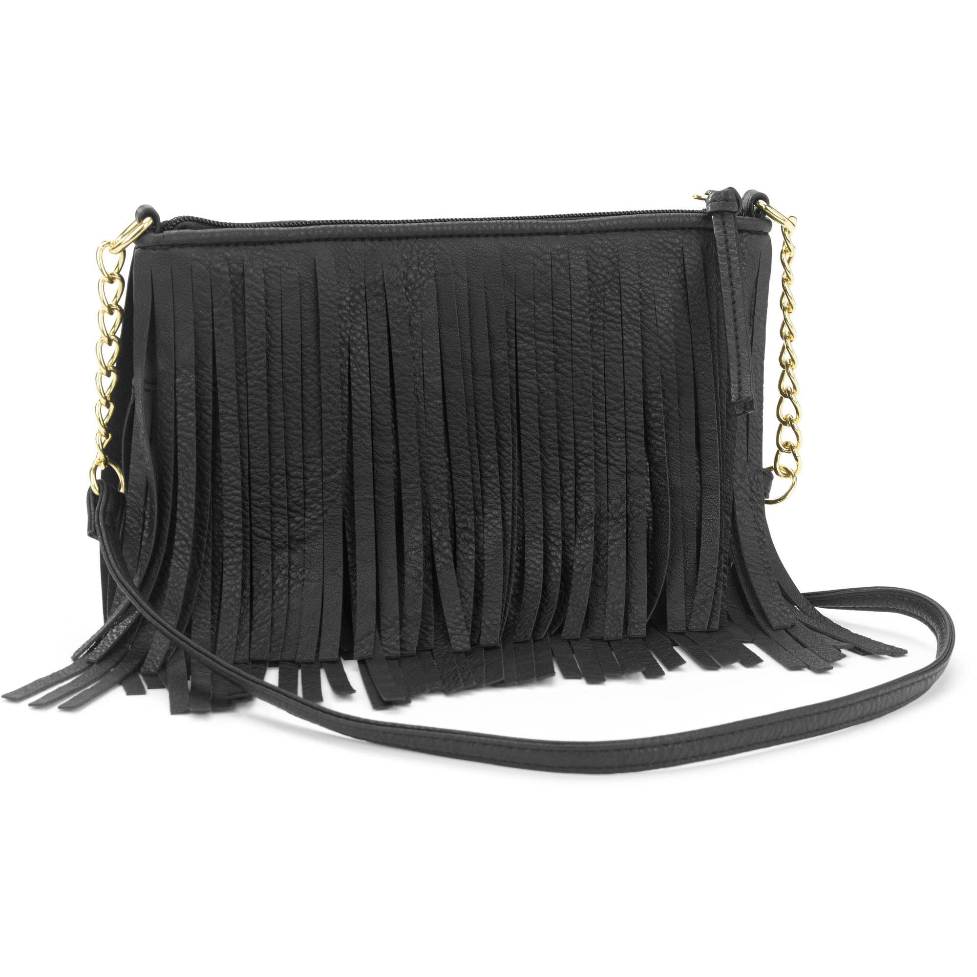 Women's Boho Festival Inspired Fringe Cross Body Handbag