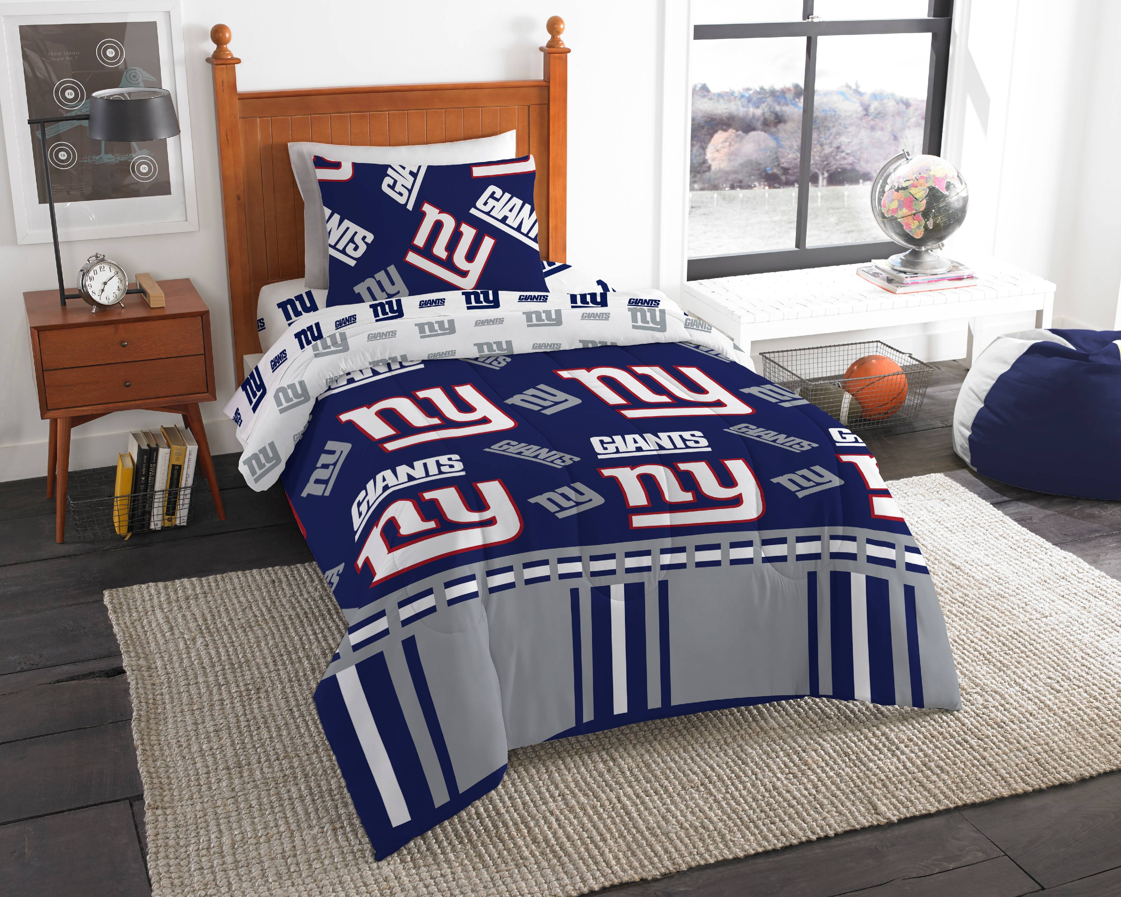 Nfl New York Giants Bed In A Bag Complete Bedding Set Twin