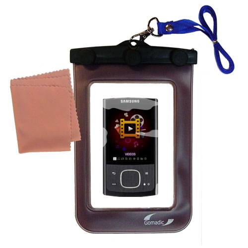 Gomadic Clean and Dry Waterproof Protective Case Suitablefor the Samsung YP-R0 Digital Media Player to use Underwater