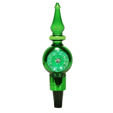 8 Quot Led Lighted Shiny Green Retro Finial Wine Bottle