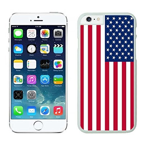 Ganma NEW Case For iPhone 8 Case, American Flag Design Phone Case Cover Case For iPhone 8 4.7inch Screen, White Case For iPhone 8 Rubber Shell Cover