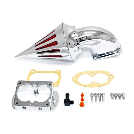 Motorcycle Chrome Spike Air Cleaner Intake Filter For 2006-2007 Kawasaki Vulcan 1600 Mean Streak - image 1 of 1
