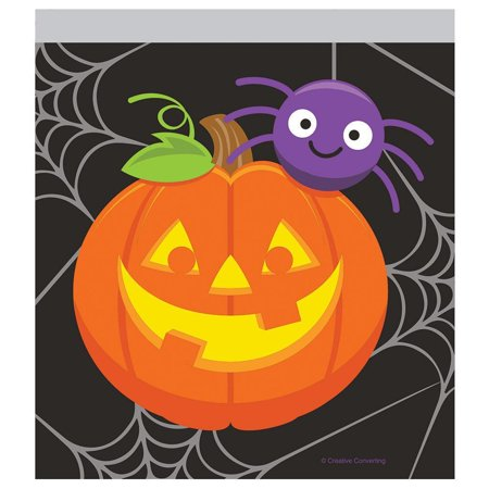 Pumpkin and Spider Favor Bags, 10 count - Pumpkin Spiders