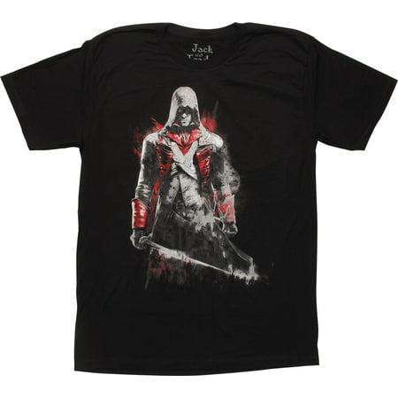 Assassins Creed Arno Dorain Black T-Shirt Sheer - Assassin Creed Suits
