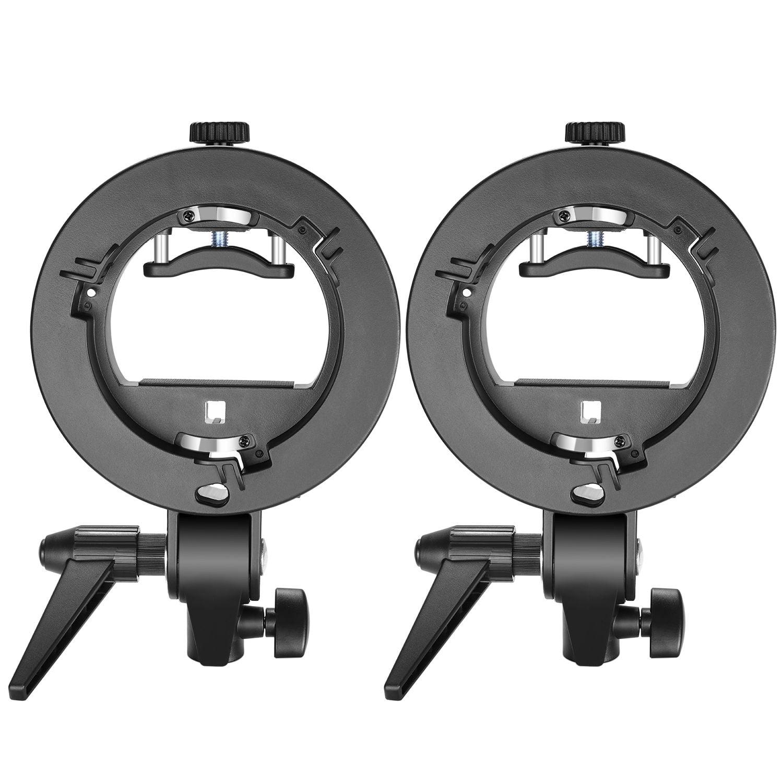 Neewer 2 Pack S Type Flash Speedlite Bracket Mount For Nikon SB910 Canon 580EX