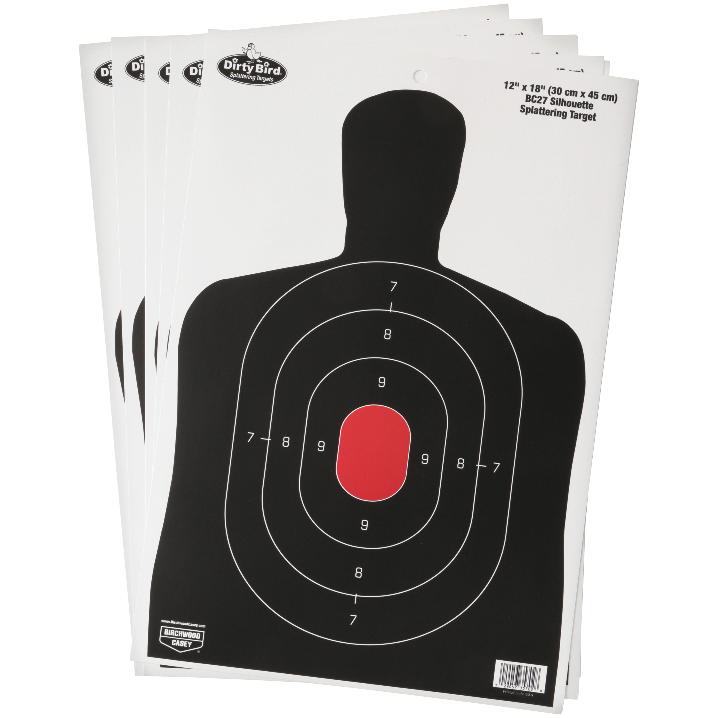 "Birchwood Casey Dirty Bird BC27 Shadow 12"" x 18"" Target, 8 Target Pack"