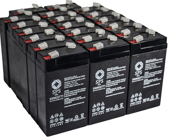 SPS Brand 6 V 3.2 Ah TT1 Replacement Battery with Terminal T1 for Siemens 341 (20 PACK) by