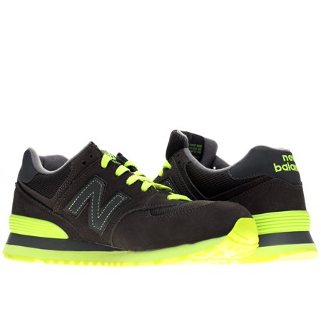 New Balance - New Balance 574 Neon Pack Grey Lime Green Men s Running Shoes  ML574KNR Size 10 - Walmart.com 7d0ed6b619