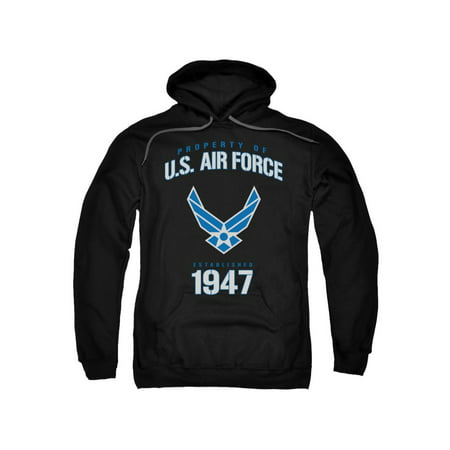 Air Force Property Of Established 1947 Blue & White Logo Adult Pull-Over Hoodie