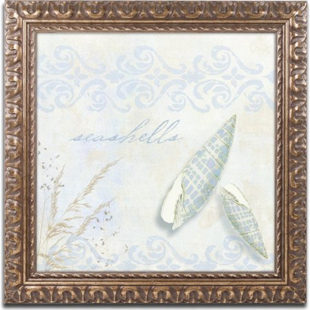 Trademark Fine Art   She Sells Seashells Ii   Canvas Art By Color Bakery  Gold Ornate Frame
