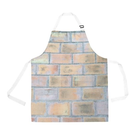 ASHLEIGH Aprons Brick Wall Apron Women Men Aprons With Two Pockets For Kitchen BBQ