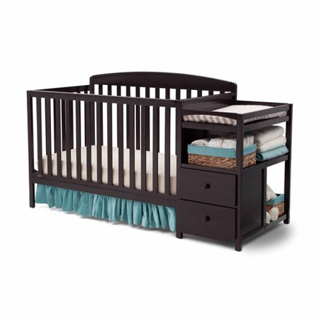 Delta Children Royal Convertible Crib N Changer, Dark Chocolate