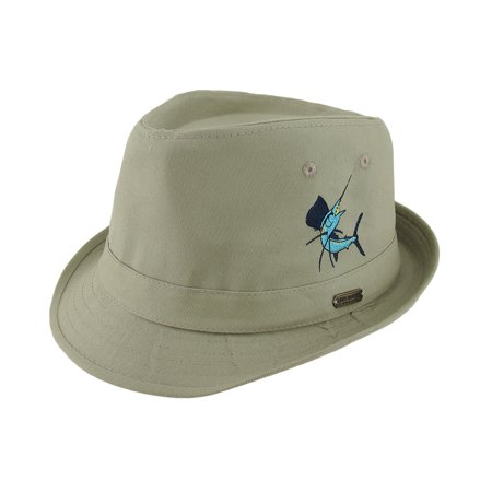 aa2288da57065 Guy Harvey Khaki Cotton Sailfish Fedora Hat - Walmart.com