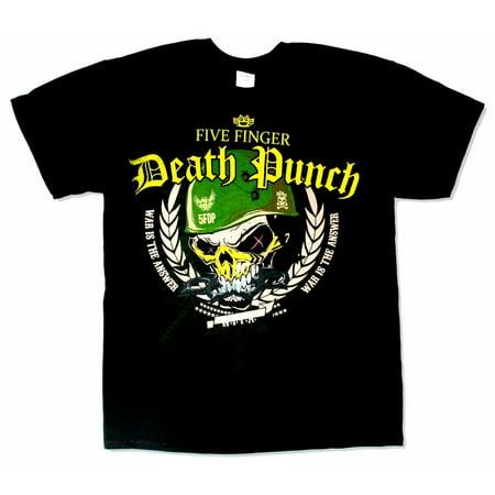 Five Finger Death Punch Warhead Tour 2014 Black T