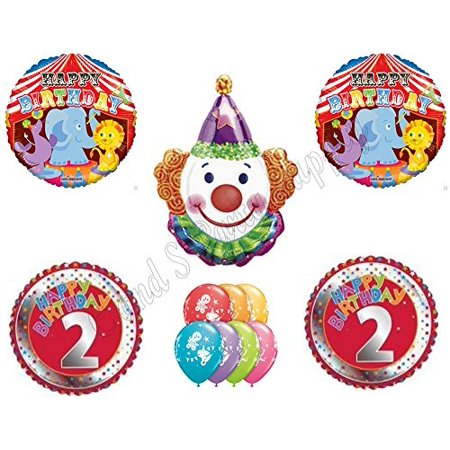 CIRCUS 2ND Second Birthday Party Balloons Decoration Supplies Clown Lion Big Top (Circus Birthday Party Supplies)