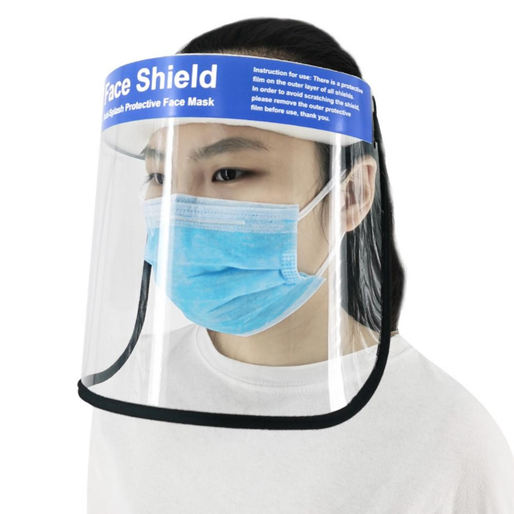 Full Face Shield Mask Reusable Clear Protective Film Dental//Medical Visor Shield