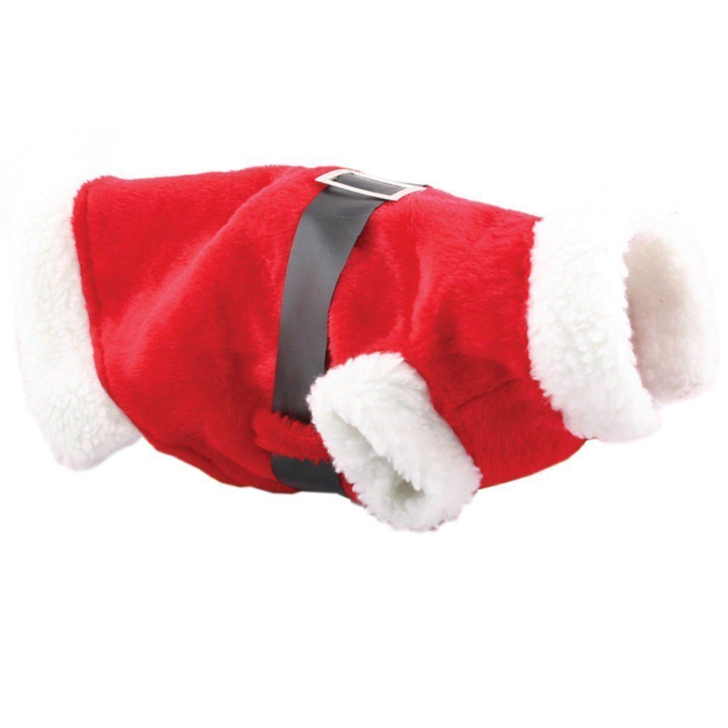 Small Cute Puppy Dog Cat Santa Suit Xmas Christmas Outfut Costume Pet Gift
