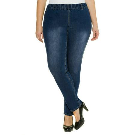 bd2f1a3f65d Ulla Popken Women s Plus Size Color Fade Jeggings 698054