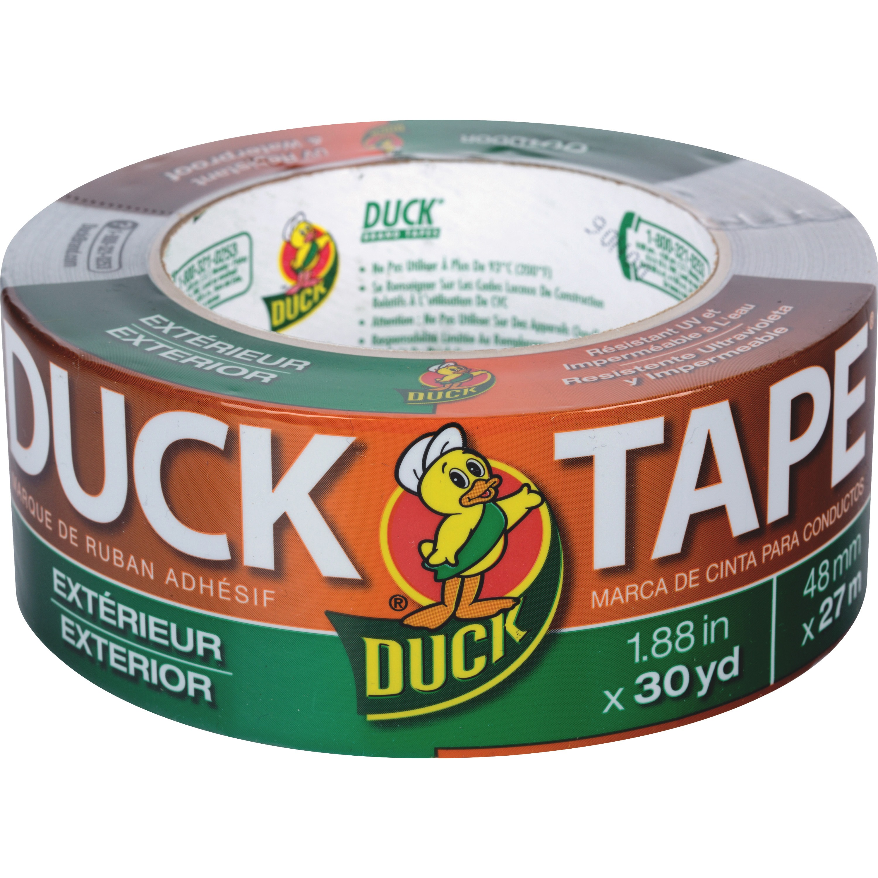 Duck Brand Brand Outdoor/Exterior Duct Tape, Gray, 1 / Roll (Quantity)