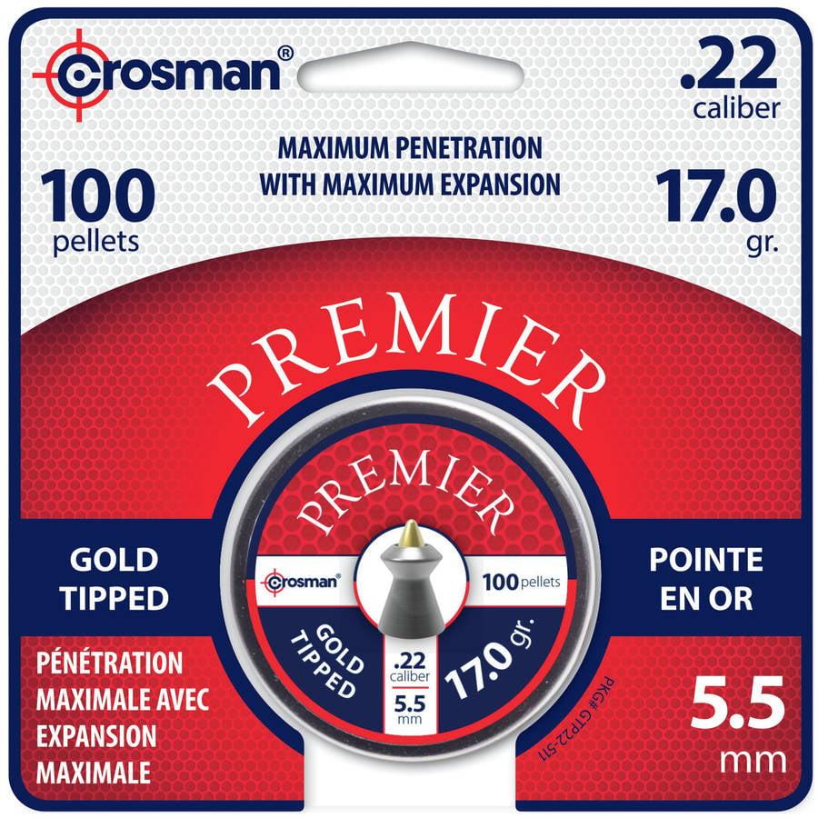 Crosman Premier Goldtip Point .22 Caliber Mag Pellets 17.0gr by Crosman