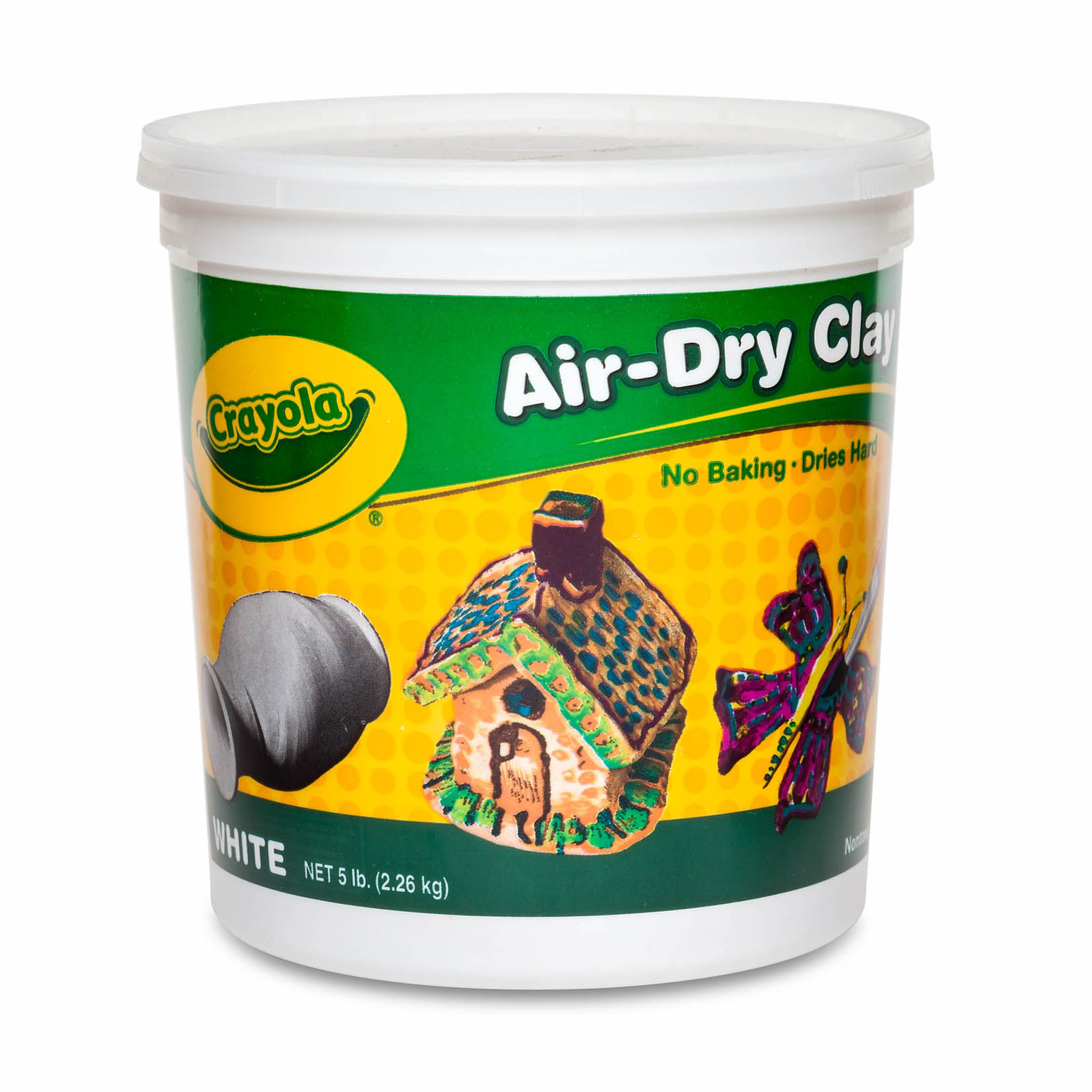 Crayola® Air-Dry Clay, White, 5 lb. Resealable Bucket