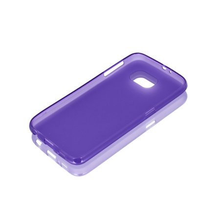 Purple Back Case Cover Protector w Protective Film Wiper for S6/G925 - image 1 de 7
