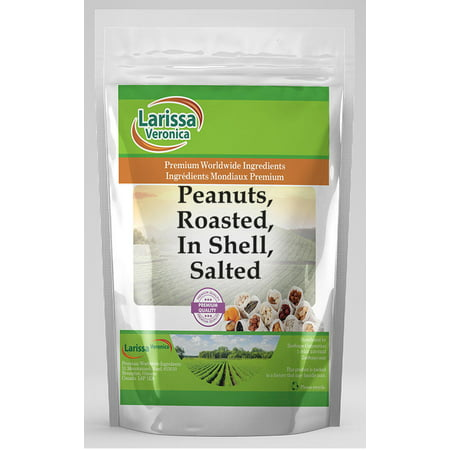 Peanuts, Roasted, In Shell, Salted (16 oz, ZIN: 525995) Peanut Shell Wrap