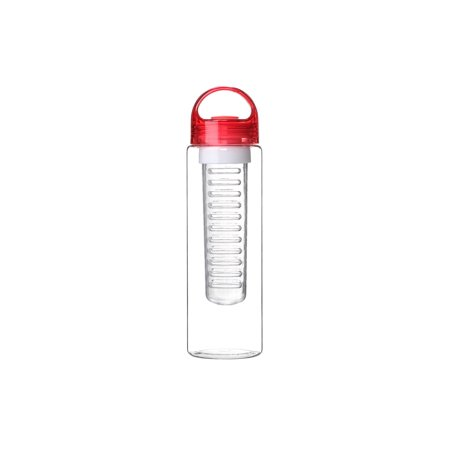 24 oz Sport Fruit Infusion Water Bottle BPA Free - Red