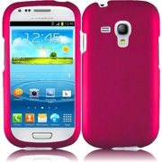 Hard Rubberized Case for Samsung Galaxy S3 Mini - Hot Pink
