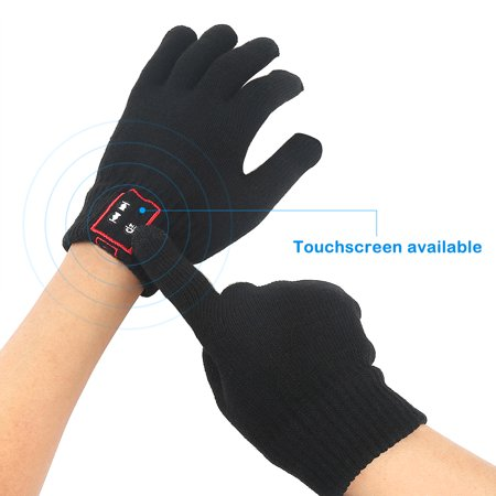 Bluetooth Touch Screen Gloves Built-In Speaker and Microphone Winter Cell Phone Headset for Iphone and other Smartphone